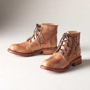 Bed Stu Bagary II Woven Leather Stud Lace Up Boots